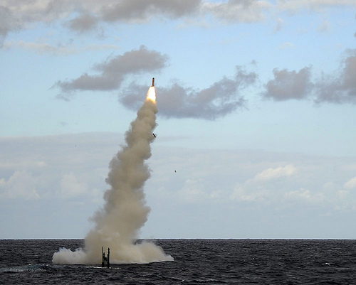 HMS Astute launching a cruise missile