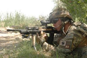 Advanced Combat Optical Gunsight with reflex sight